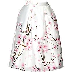 Durazno Flor De Las Mujeres Impresa Faldas De Cóctel Vintage De La Llamarada M