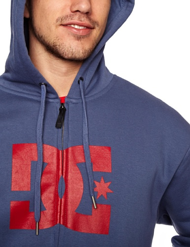 DC Shoes Herren Fleece SweatShirt Star ZH Hooded Full Zip blue indigo