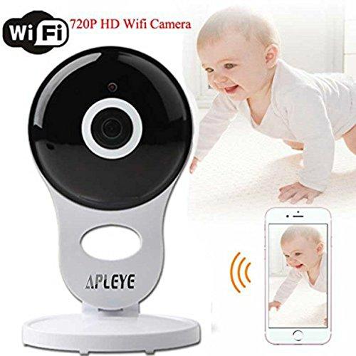 Apleye Wireless Security IP-Monitor, Mini-Baby-Haustier-Monitor IP-Sicherheits-Überwachungssystem Weiß