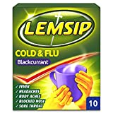 Lemsip Cold and Flu Blackcurrant with Paracetamol - Pack of 10 Sachets
