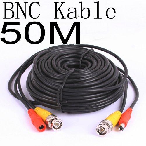 50Meter CCTV BNC Video und Strom Kabel Verlängerungskabel 50m 22300 50 Digitale-video-kabel
