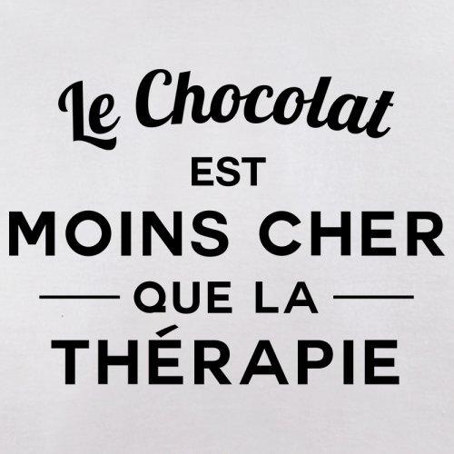 Le chocolat est moins cher que la thérapie - Femme T-Shirt - 14 couleur Blanc