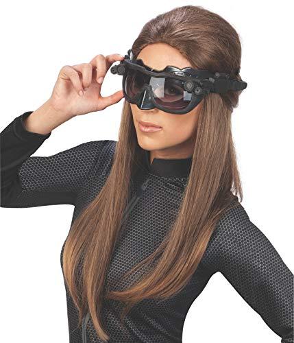 Kostüm Catwoman Deluxe - Rubie 's Offizielle Catwoman Deluxe Maske und Ohren, Batman Accessoire für Erwachsene, Einheitsgröße, Schwarz.