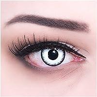 Meralens A0041 White Zombie Kontaktlinsen mit Behälter ohne Stärke, 1er Pack (1 x 2 Stück)