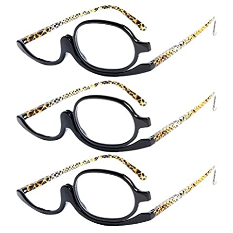 Zhhlaixing 3x Makeup Glasses Reading Glasses Organizer Mirror Glass Maquillage