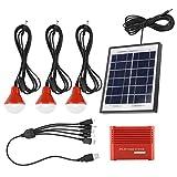 TOPINCN Kit de generador Solar portátil Fuente de alimentación de Emergencia Paneles solares 4W Batería Recargable USB 3.7 V Energía Solar