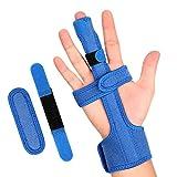 Doact Ferula Dedo, Gatillo de Dedo Muñeca Pulgar Tendón Estabilizador Finger Extension Splint para Apoyo Artritis Túnel Carpiano Dolor Esguince Finger Fractures