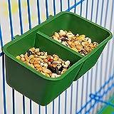 Plato para alimentación de aves 2 en 1 Jaula y Bol para proporcionar agua y semillas a loros de Macao, loro gris africano, periquitos, cotorras, cacatúas y canarios