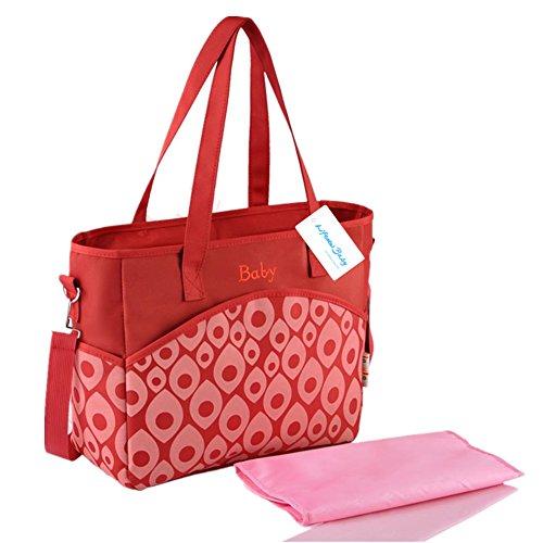 Großer Mummy Tasche Baby Windel Windel Wickeltasche Mama Handtasche Umhängetasche Schultertasche Colorado Red