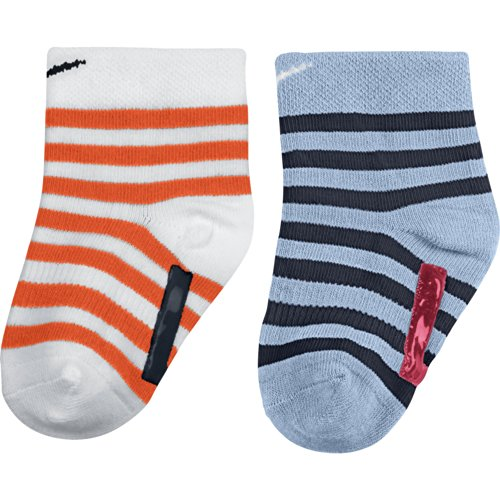 NIKE 2PPK KIDS LITTLE ANTI-SLIP SOC SX4811-Socken-Baby Blanc / Rouge / Bleu S