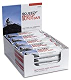 Squeezy Sports Nutrition Energy Super Bar, Cola+Koffein, Display mit 20 Riegeln á 50 g