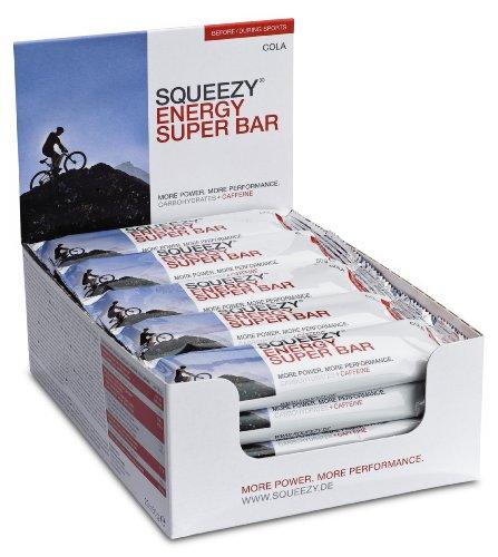 Squeezy Sports Nutrition Energy Super Bar, Cola+Koffein, Display mit 20 Riegeln á 50 g