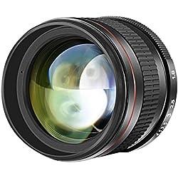 Neewer 1008944485mm f/1,8 Téléobjectif Multicouche Asphérique de Portrait pour Canon EOS 80D 70D 60D 60Da 50D 7D 6D 5D 5DS 1Ds Rebel, Mise au Point Manuelle Fixe