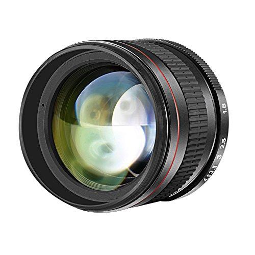 Neewer 85mm f/1,8 Portrait Asphärisches Teleobjektiv für Nikon D5 D4S DF D4 D810 D800 D750 D610 D600 D500 D7200 D7100 D7000 D5500 D5300 D5200 D5100 D3400 D3100 DSLR-Kameras, Manueller Fokus HD Glass
