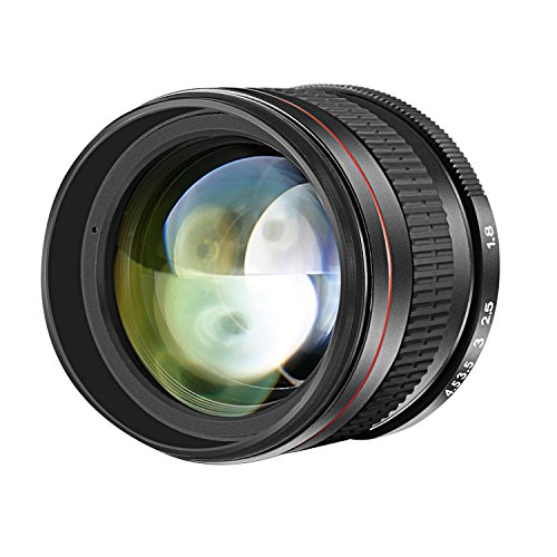 Neewer 85mm f/1,8 manueller Fokus Portrait Asphärisches Teleobjektiv für Nikon D5 D4S DF D4 D810 D800 D750 D610 D600D7200 D7100 D7000 D5500 D5300 D5200 D5100DSLR-Kameras