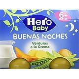 Hero Baby Buenas Noches Verduras a la Crema - Paquete de 2 x 190 gr - Total: 380 gr - [pack de 6]