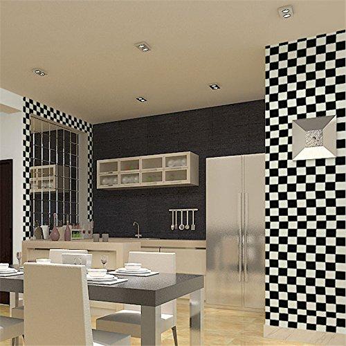 Zhzhco Verdickung Pvc Selbstklebend Tapeten Mit Leim Dekorative Tapete Wasser Wild Schlafzimmer Wohnzimmer Hintergrundbild Einfügen Von Schwarz Und Weiß 45Cm*10M