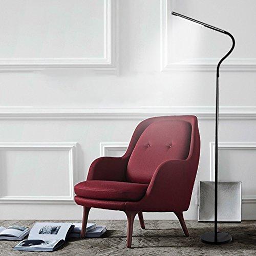 LED-Stehlampe, Wohnzimmer Schlafzimmer Studie nordischen Stil, einfache Klavier Lesung Auge vertikale Tischlampe, 7W ( Color : Night black )