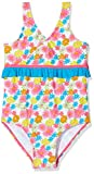 Playshoes Mädchen Einteiler Badeanzug Blumenmeer mit UV-Schutz, Mehrfarbig (Pink 18), 110 (Herstellergröße: 110/116)