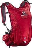 Salomon Leichter Trail-Running Rucksack 12 L, 45 x 22,5 x 13,5 cm, AGILE 12 SET, Rot (Matador), L39290000