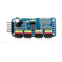haoyishang pca968516canales, 12bits PWM controlador de motor servo IIC módulo de interfaz para Arduino Robot Raspberry Pi Shield memoria
