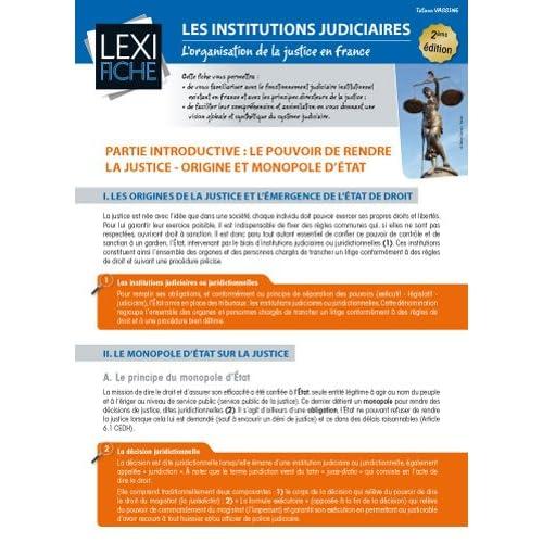 Les institutions judiciaires : L'organisation de la justice en France