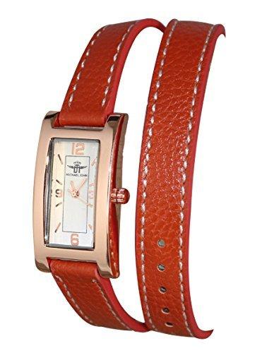 montre-bracelet-femme-double-tour-cuir-marron-cadran-cuivre-michael-john