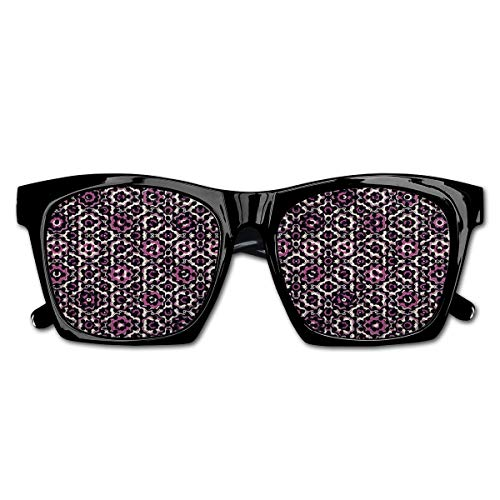 EELKKO Mesh Sunglasses Sports Polarized, Alluring Flowering Nature Circular Geometric Pattern of Floral Composition,Fun Props Party Favors Gift Unisex