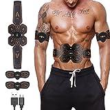 REXSO Unisex Adult EMS Bauchmuskeltrainer, schwarz, M