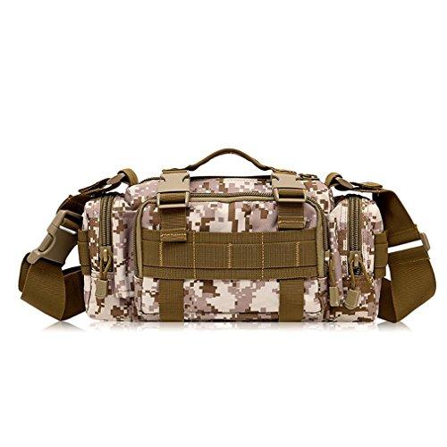 F@Esercito Camo nylon impermeabile maschio all'aperto tactical Pocket borsa a tracolla con Equitazione pacchetti , F C