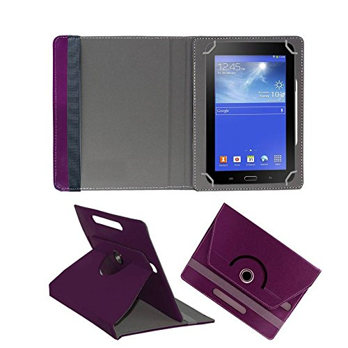 Fastway Rotating Flip Cover For Samsung Galaxy Tab 4 T231 Tablet( 8 GB, Wi-Fi+3G)-Purple  available at amazon for Rs.369