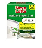 Nexa Lotte Insektenschutz 3-in-1 Starterpackung, Mückenstecker, Elektroverdampfer gegen fliegende Insekten wie Mücken, Motten und Fliegen in allen Räumen.