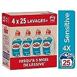 Le Chat Sensitive - Lessive Liquide - 100 Lavages (4 x 1.25L)
