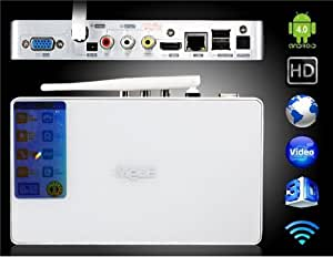 Mele A3700 Android 4.0 Allwinner A10 1.0GHz 1G DDR3 8GB Android TV Box avec F10 Mouse Fly Air (Black)