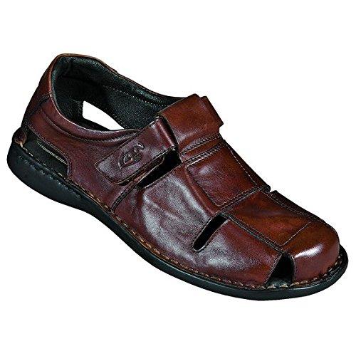 Zen sandali uomo 660165, Marrone (castagna), 44 eu