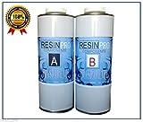 RESINA EPOSSIDICA TRASPARENTE kg1.6 BICOMPONENTE A+B - SUPER TRASPARENTE EFFETTO ACQUA per creazioni trasparente - RESINA per gioielli - resina per creazioni stampi - BESTSELLER da RESIN PRO (1,6 KG)
