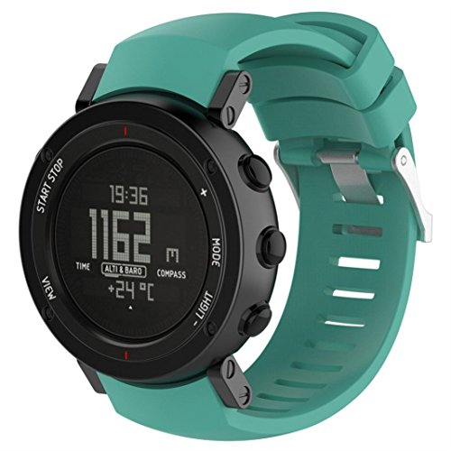 Hkfv Suunto Core Alu creative monocolore design New Fashion sport silicone braccialetto da polso Band 140-230MM Mint Green
