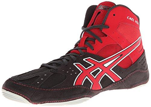 Rosso Cael Asics V6 Carbone Scarpa Mens Wrestling Fuoco Argento 0 g6a0aOwq