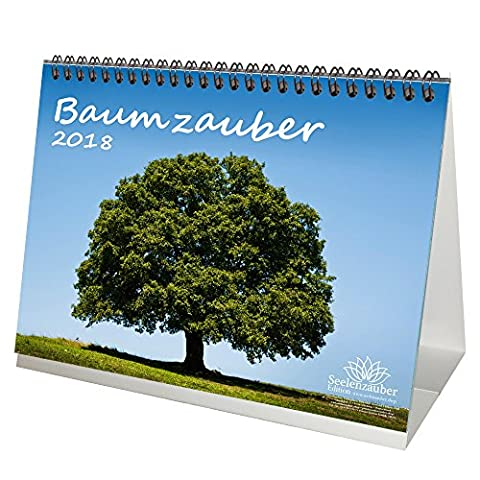 Premium Tischkalender / Kalender 2018 · DIN A5 · Baumzauber · Baum · Bäume · Wald · Geschenk-Set mit 1 Grußkarte und 1 Weihnachtskarte · Edition Seelenzauber