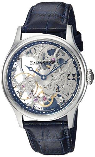 Thomas Earnshaw ES-8049-06 Orologio da Polso Analogico da Uomo, Cinturino in Pelle, Colore Blu