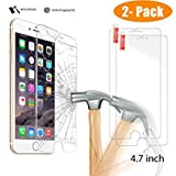 M.G.R.J - ( 2 pack ) Apple iPhone 7 / 6s / 6 Screen Protector , Tempered Glass Screen Protector , High Definition , Scratch Proof ( 4.7' inch )