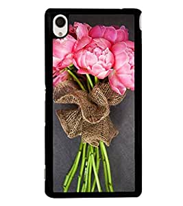 Bouquet of Pink Flowers 2D Hard Polycarbonate Designer Back Case Cover for Sony Xperia M4 Aqua :: Sony Xperia M4 Aqua Dual