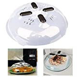 Cartshopper Microwave plate cover, hover Magnetic function, safe convenient with steam vent, prevent