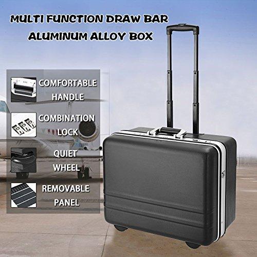 Homdox Werkzeugkoffer Werkzeugtrolley Werkzeugkiste mit erstellbarem Tragegurt und abnehmbarer...