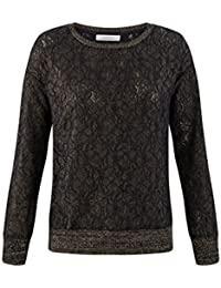 Promod Sweatshirt in Spitzenoptik