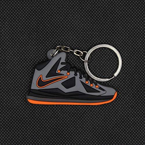 KJHKJH Mini Silikon Basketball Schuh Schlüsselbund Männer Edelstahl Stell Schlüsselanhänger Hot Fashion Schlüsselbund Für Männer Schlüsselhalter Schnalle-1