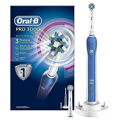 Oral-B PRO 3000 CrossAction Brosse à Dents Electrique Rechargeable