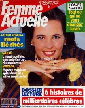FEMME ACTUELLE [No 386] du 17/02/1992 - ...