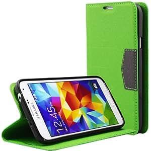 Bestwe Grün PU Leder Schutzhülle Flip Tasche Hülle für Samsung Galaxy S5 Wallet Case mit Standfunktion
