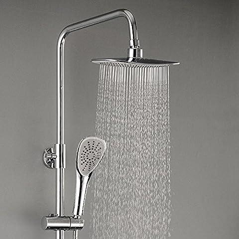 BIAN-Grifo de ducha de ducha cuarto de baño contemporáneo cobrizado cerámica mezcla válvula grifo caliente y fría tres sistema regulada de salida de la ducha inyector de ducha elevador booster